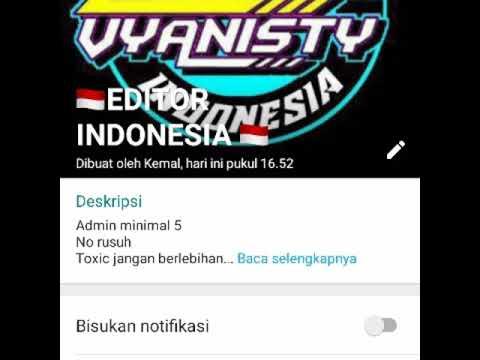 Link Grup Wa Editor Indonesia Youtube