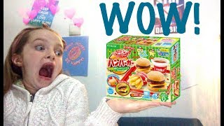 TRYING THE POPIN' COOKIN' BURGER SET!