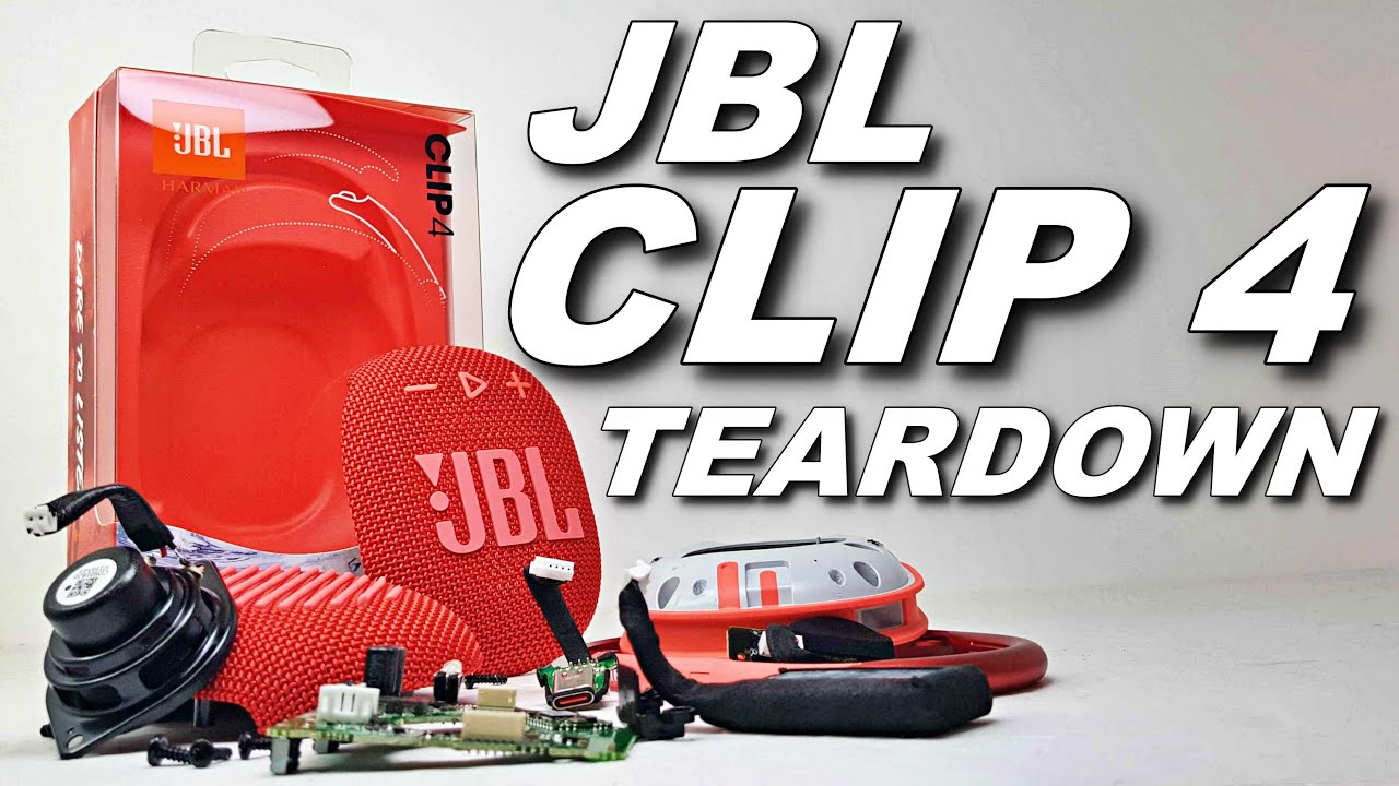 Download JBL CLIP 4 COMPLETE TEARDOWN