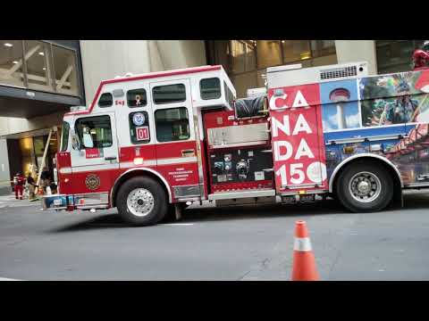 Calgary Fire Department Heavy Rescue Team on Scene