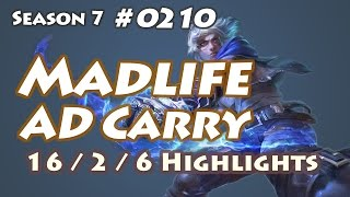 GCU Madlife - Ezreal vs Ashe - KR LOL Highlights | 매드라이프 이즈리얼