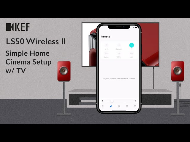 KEF LS50 Wireless II - Simple Home Cinema Setup w/ TV