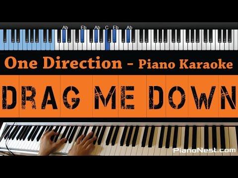 One Direction - Drag Me Down - LOWER Key (Piano Karaoke / Sing Along)