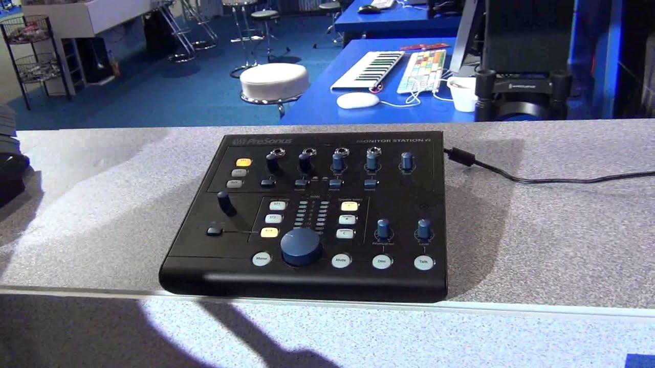introducing the presonus monitor station v2 musikmesse 2014 youtube. Black Bedroom Furniture Sets. Home Design Ideas