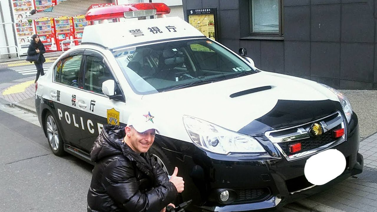 Japan's Cool Police Cars! Turbo Charged Subaru Legacy B4 Cop Car in Tokyo