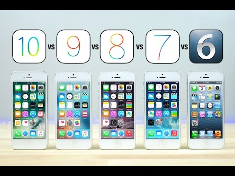 best website 610a8 30dbc iOS 10 vs iOS 9 vs iOS 8 vs iOS 7 vs iOS 6 on iPhone 5 Speed Test ...