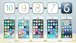 ios 10 vs ios 9 vs ios 8 vs ios 7 vs ios 6 on iphone 5 speed test