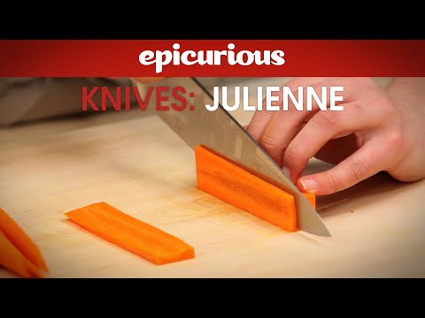 how to julienne carrots for salads epicurious essentials how to kitchen tips knives youtube. Black Bedroom Furniture Sets. Home Design Ideas