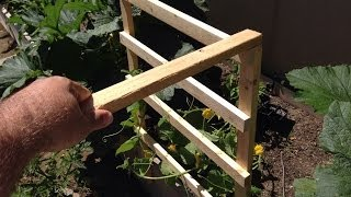 Making A Cucumber Trellis 1