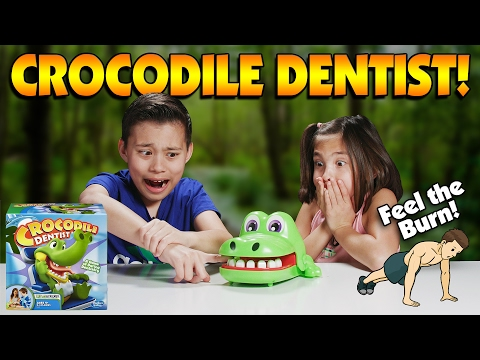 CROCODILE DENTIST WORKOUT CHALLENGE!!! Be FIT & Don't Get BIT!
