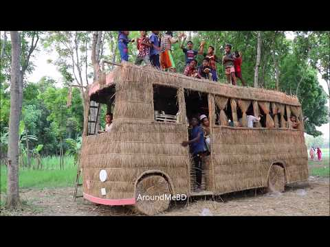 Fun Toy Bus Making By Smart Boys For Children - Build Beautiful Playing Toy For Kids