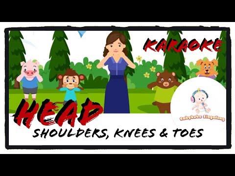 Heads Shoulders Knees and Toes Karaoke (with Actions) - Sing Along Nursery Rhymes 2018