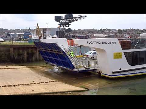 Cowes Floating Bridge - East Cowes Side - Isle Of Wight Chain Ferry - June 2018 | kittikoko