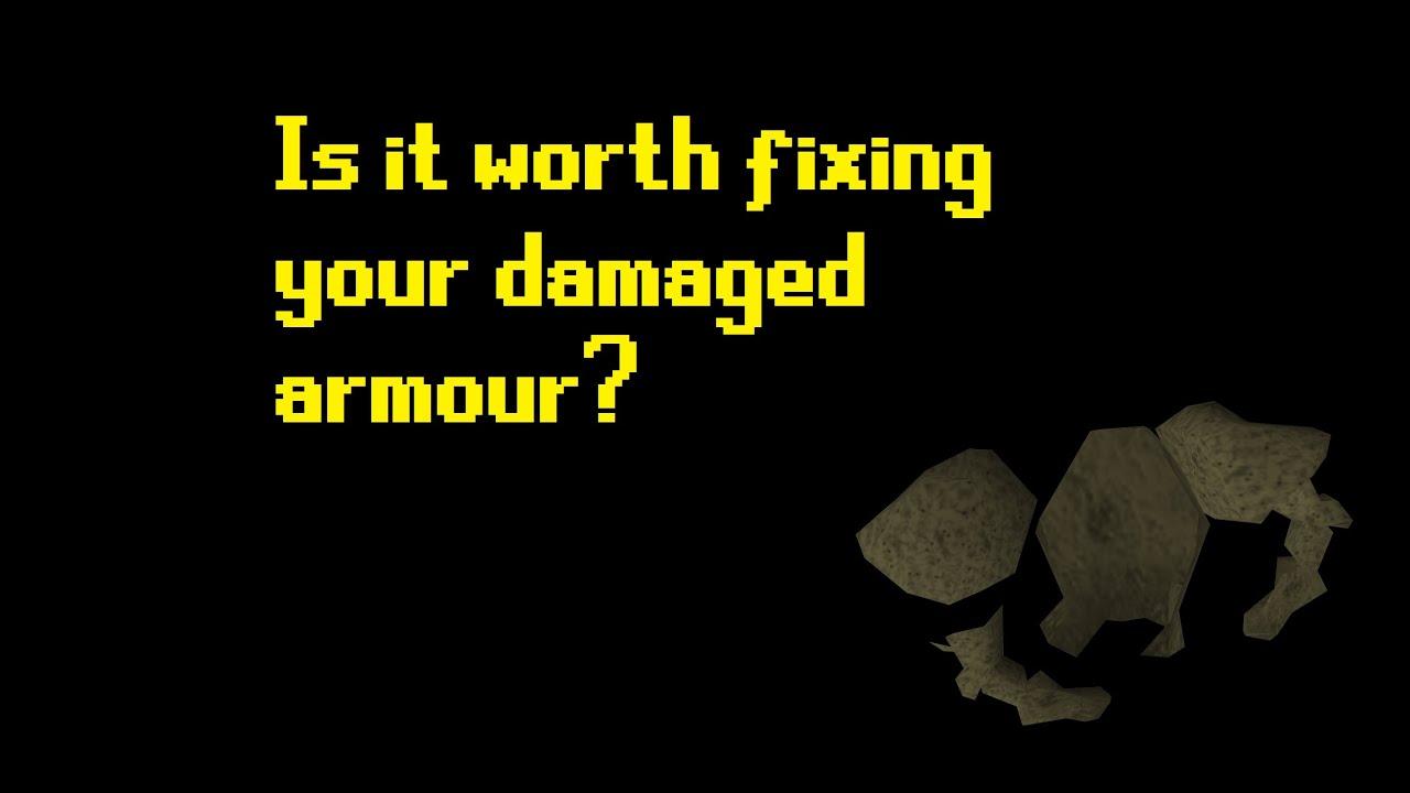 Osrs Repairing 100 Damaged Armours I Borrow Iron Youtube