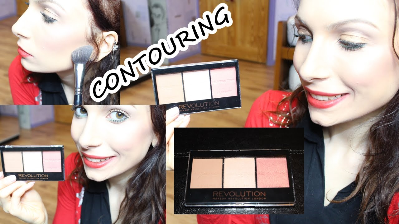 How To Contour And Highlight | Makeup Revolution Sculpt & Contour Kit | Drugstore Tutorial - YouTube