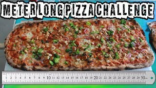 """Undefeated $100 Meter Long Pizza Challenge w/ """"Raina Is Crazy"""" & Foodbeast 