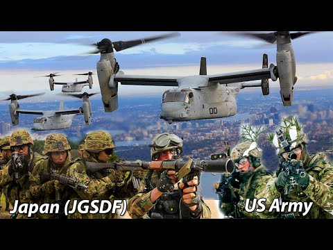 US Marines and Japan Ground Self-Defense Force Soldiers Conduct Helocast Training Iron Fist 2020