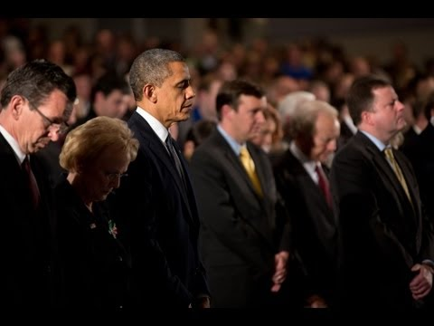 President Obama Speaks at Newtown High...