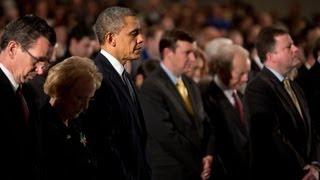 President Obama Speaks at Newtown High School