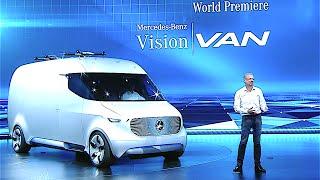 Mercedes Vision Van World Premiere Mercedes Electric Van Review 2017 CARJAM TV