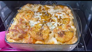 Creamy Pasta Casserole - Potato Chicken Casserole Easy Steps