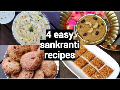 4-makar-sankranti-recipes-|-pongal-festival-recipes-|-traditional-south-indian-sankranti-sweets