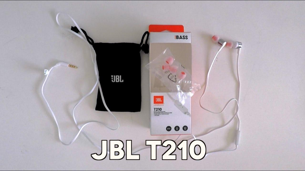 f52ef446449 Unboxing] Earphones JBL T210 - YouTube