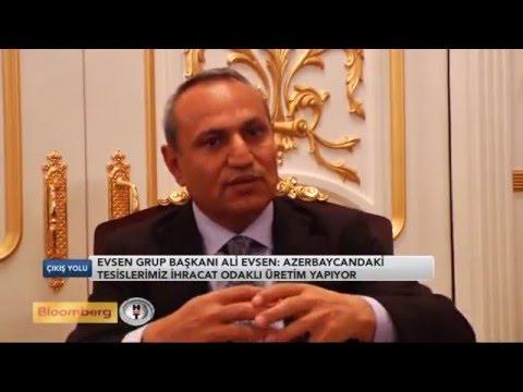 """Ali Evsen Türkiyənin nüfuzlu """"Bloomberg Turk"""" telekanalına müsahibə vermişdir."""