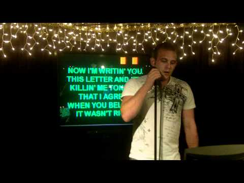 """Karaoke at JB's In Elgin - Mike singing """"I'm Not Supposed To Love You Anymore"""" by Bryan White"""