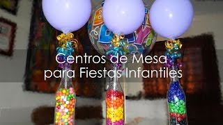 Centro de Mesa para Fiestas Infantiles - Botellas Recicladas