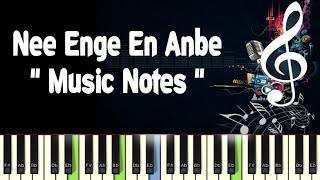 Nee Enge En Anbe (chinna thambi) Piano Notes, Midi File, Music Sheet & Karaoke