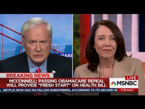 MSNBC: Cantwell Calls For the End of Efforts to Repeal the ACA and Cut Access to Health Care
