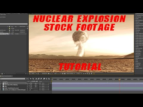 Free Nuclear Explosion Stock Footage Green Screen + After Effects Tutorial