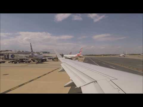 American Eagle Embraer E175 Pushback, Taxi and Takeoff from Washington Reagan
