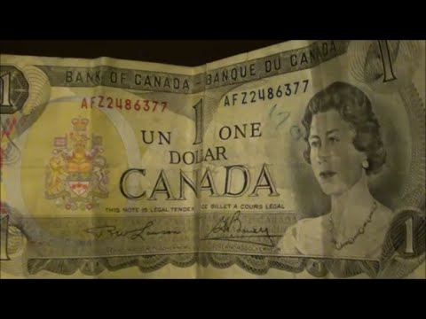1973 $1 BANKNOTE From CANADA - Bank Of Canada $1 Bill