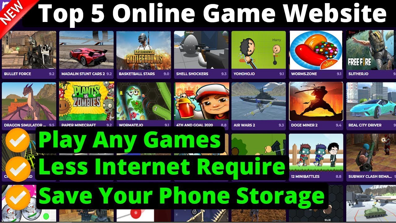 Top 5 Free Online Game Website Play Any Games You Want In Mobile And Pc 2020 Youtube