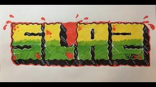 Graffiti Writing Tutorial 5 - SECK study / homage (USING FELT TIP PENS!)