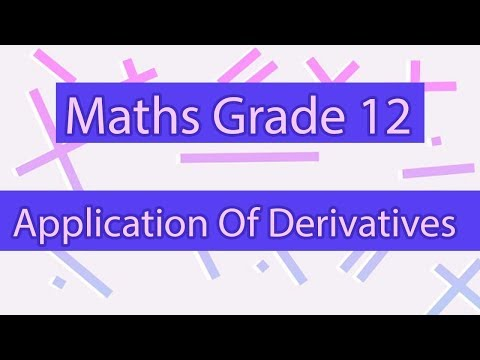 Application of Derivatives | Calculus | Differential Calculus