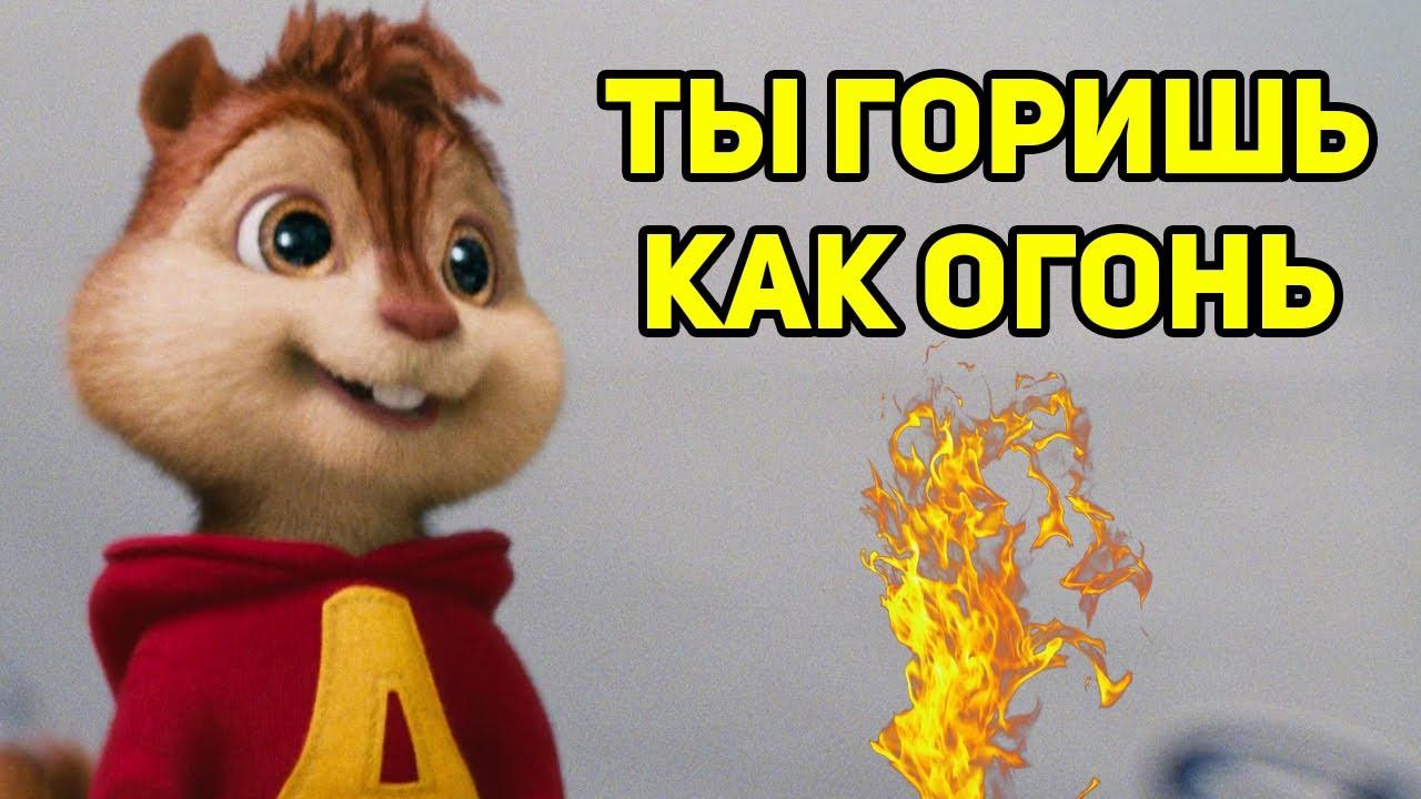 Элвин и Бурундуки поют Ты горишь как огонь (SLAVA MARLOW)