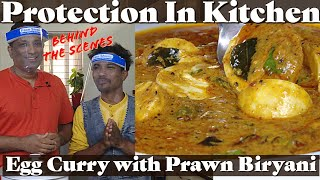 Protection In Kitchen -  Fun cooking with Jr vahchef Mani - Egg Salan With Biryani in Rice Cooker