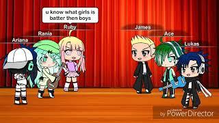 Singing battle~GIRLS VS BOYS~gachaverse~like and subcribe thumbnail