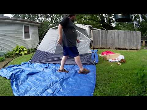 Repeat Ozark shower tent setup goes wrong  by Kathy Johnson