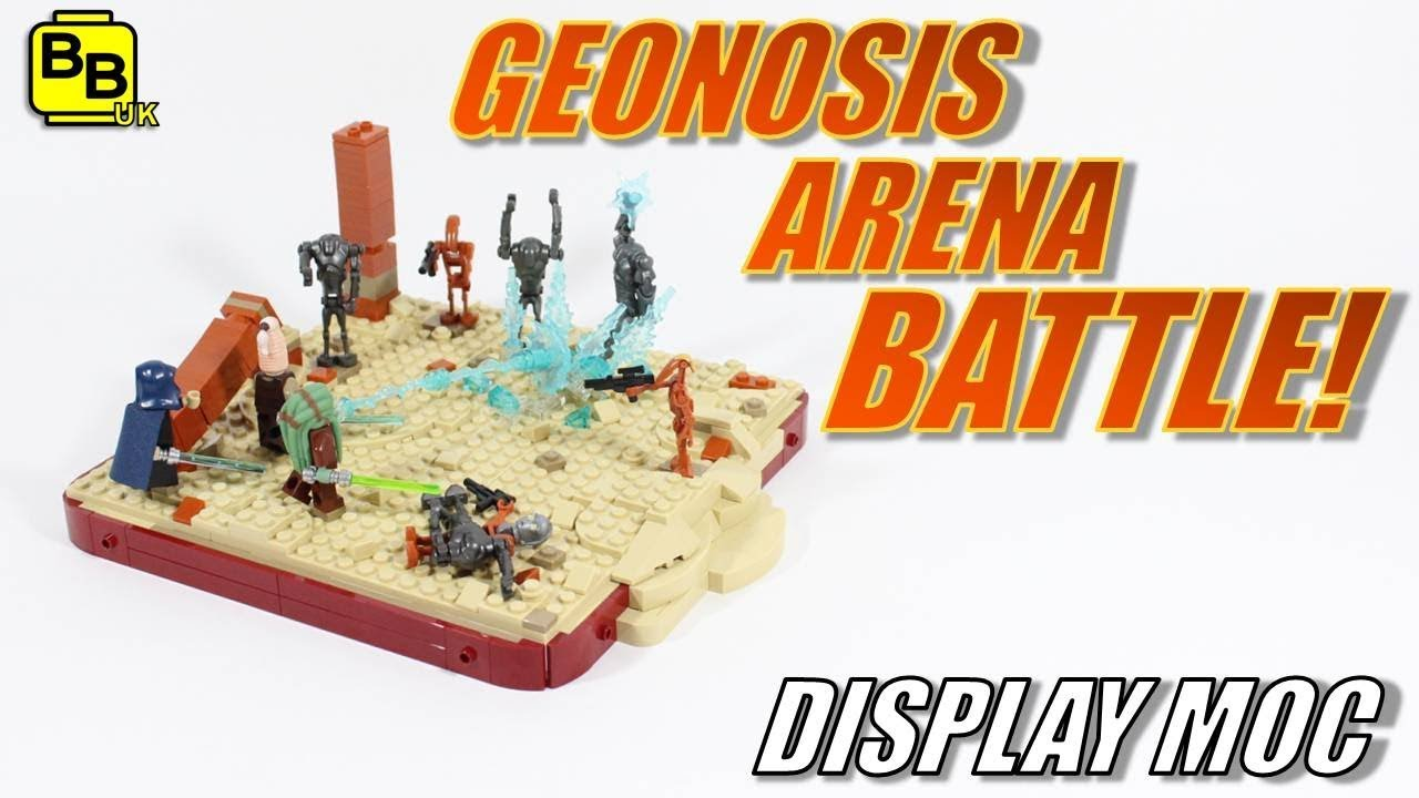 Lego Star Wars Geonosis Arena Battle Display Moc Youtube
