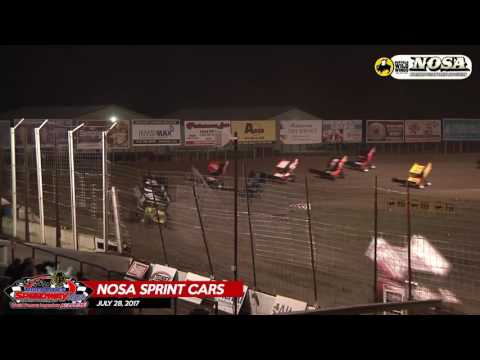 Buffalo Wild Wings NOSA Sprint Car Highlights - July 28th, 2017 - River Cities Speedway