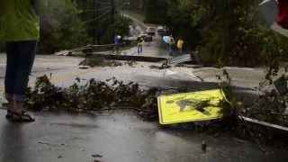 Bridge Swept Away in Columbia, South Carolina