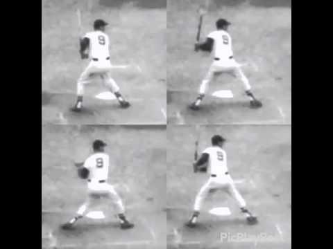 Ted Williams swing sequence slo mo