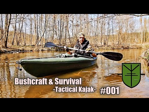Survival & Bushcraft Tactical Kajak with Backpacker Wilderness #001