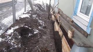 Усиление ленточного фундамента(На видео показана технология ремонта трещин фундамента. Заливка плита, устройство армопояса, установка..., 2014-12-09T19:13:32.000Z)