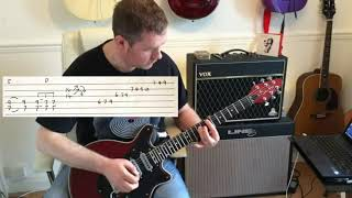 Queen - Keep Yourself Alive - Live Killers Guitar Tutorial with guitar tab