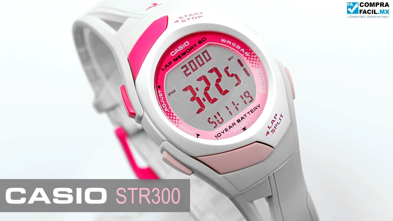 Con Casio Rosa Phys Comprafacil mx Reloj Str300 Blanco dxeWCBor
